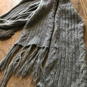 Grey scarf cute fall warp